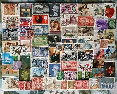 British UK stamp collection assorted used lot of 111