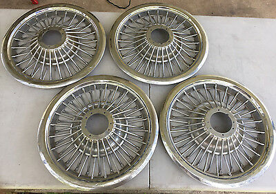 "1960's Ford Mustang Galaxie 15"" Wire Spoke Hubcaps"