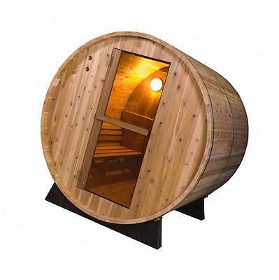 Almost Heaven Pinnacle 4 Person Barrel Steam Sauna - Delivered Only