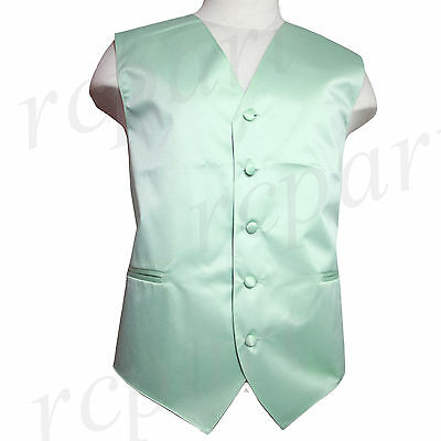 New Man Tuxedo Waistcoat Laurel green Vest only Formal Wedding Party Prom