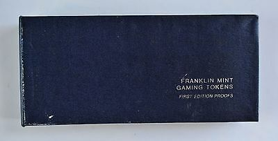 Franklin Mint Complete Set of 24 Casino Gaming Tokens First Edition Proofs