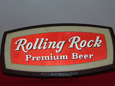 Vintage 1970's Rolling Rock Brewed From Mountain Spring Water Motion Wall Sign