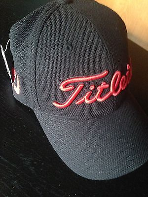 New Titleist Fj Pro V1 Golf Hat Black Medium/large