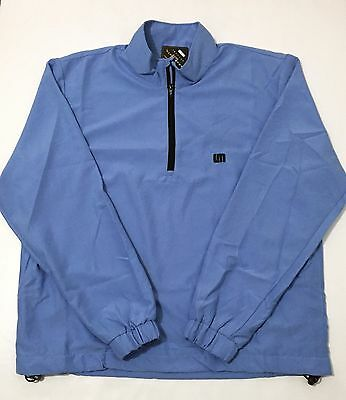 NEW Loudmouth Golf Powder Blue 1/2 Zip Pullover Jacket Size Large