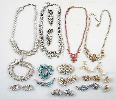 Lot Of 25 Sherman Signed Vintage Costume Jewelry Earring Set,necklace,brooch,