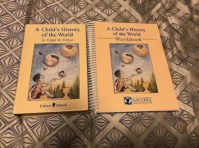 A Child's History of the World by Virgil M. Hillyer Hardcover Book And Workbook