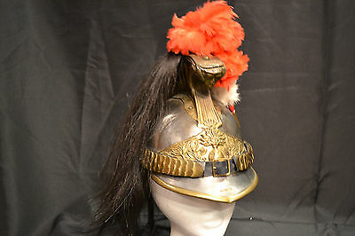 Rare Original French  M1872 Heavy Cavalry Officer Helmet Cuirassier Pre Wwi
