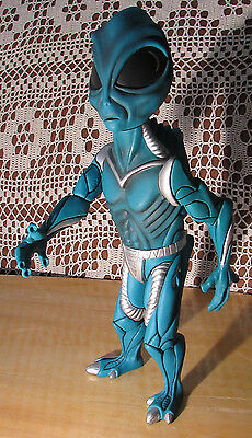 "ALIEN POSEABLE R.Marino Action Figure 1997 14"" Tall Artsy Detailed Blue & Silver"