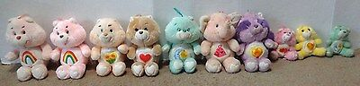 Vintage Care Bears & Cousin HUGE Lot of 10 Cheer Friend Bedtime Tenderheart