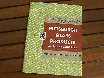 VINTAGE Pittsburgh Glass Products Catalog 1945~90 pages~Art Deco