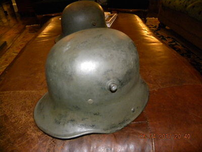 WWI German M16 Trench Helmet Size BF64 with Replaced Aged Liner