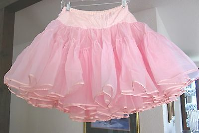 Petticoat – Vintage Malco Modes 3-Layer Ultra Full Pink Square Dance - M