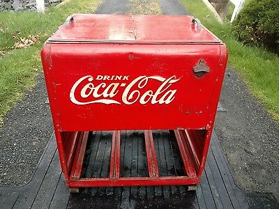 Vintage drink Coca-Cola Ice chest cooler coke old soda