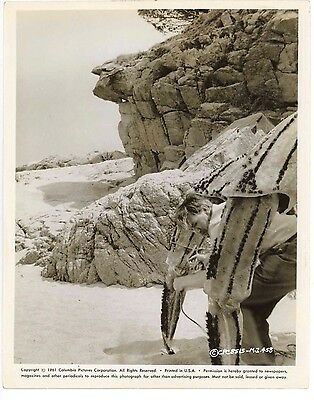 Mysterious Island 1961 Original Candid Photo Crew Worker setting up Crab