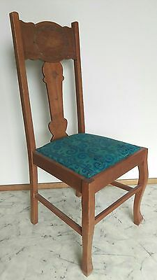 Set Of 6 Antique Queensland Maple Dining Chairs