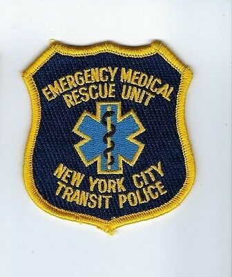 RARE New York City NY Transit Police Emergency Medical Rescue Unit patch - Nice!