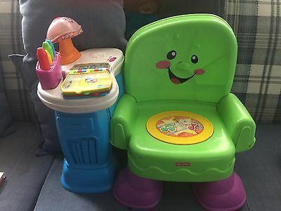 Fisher Price Laugh & Learn Green Musical Learning Chair