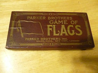 Antique Vintage Parker Brothers Game of Flags