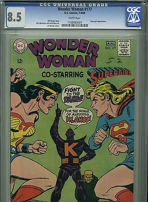 Wonder Woman #177 - August, 1968 - CGC 8.5 - FIght Cover - Supergirl vs WW!