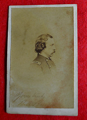 CDV Officer Lt. Colonel Union Army Signed Yours Truly Bill Burger!