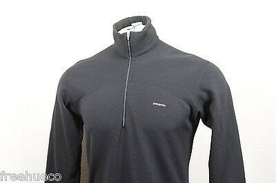 Vintage PATAGONIA Expedition Weight Capilene Zipneck Shirt -Black -Men's Small