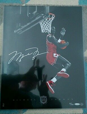 Michael Jordan Cradle Dunk Signed UDA Limited To 123 Hall Of Fame Picture 16x20