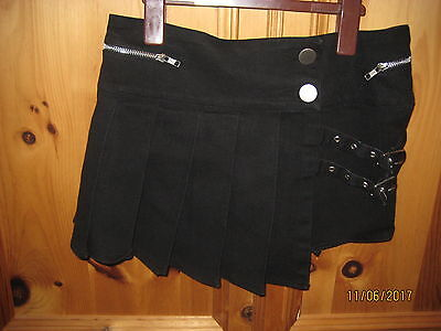 Vixxsin Black Hipster Buckle Skirt New Without Tags Size M