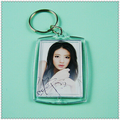 10Pcs Set Clear Blank Acrylic Photo Picture Frame Key Ring Chain DIY Gift Lot