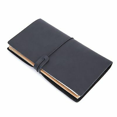 Handmade Hardcover Leather Bound Notebook Journal Diary Refillable Sketchbook