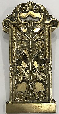 Antique Tiffany & Co. New York Bronze Gothic Theme Desk Bill Clip
