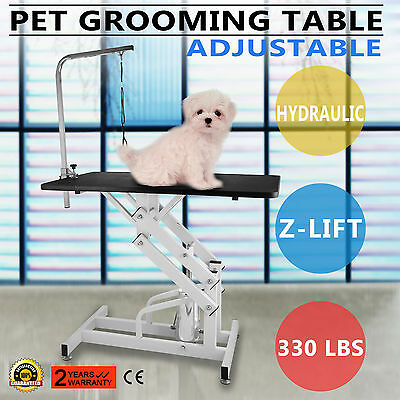 Z-lift Hydraulic Dog Cat Pet Grooming Table w/Arm Professional Rubber Mat GOOD