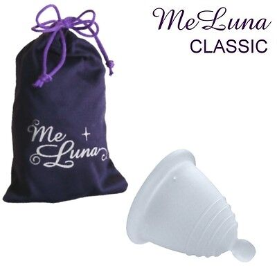 Me Luna Classic Menstrual Cup - Shorty Length - Clear - Ball, Ring or Stem