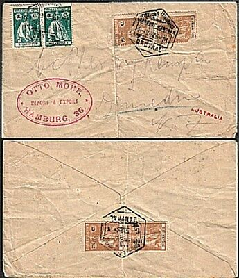 MOZAMBIQUE 1925 registered cover to New Zealand............................17811