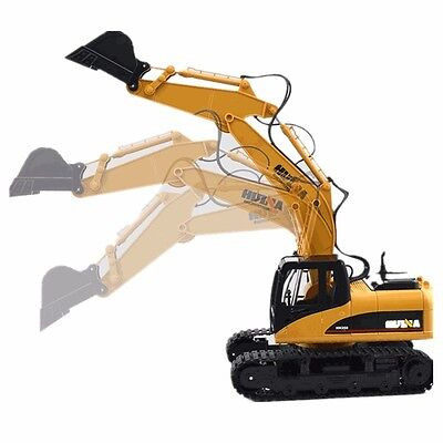 HuiNa Toys 1550 15 Channel 2.4G 1/12RC Metal Excavator Charging RC Car