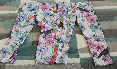 Twin girls tropical leggings from M&S age 4-5
