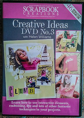 Scrapbook Creations CREATIVE IDEAS DVD No.3 by Helen Williams