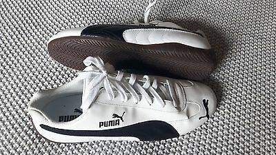 New Women's Puma Shoes Size 11 White Black Sneakers Runners