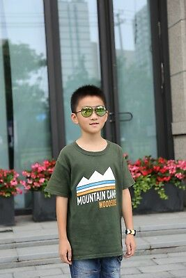 Kids Toddler Boys Girls Aviator Pilot Classic Style Metal Frame Sunglasses