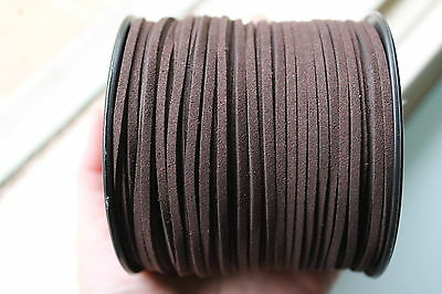 10 Meters Coffee Colour Suede Leather Cord
