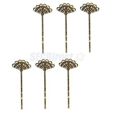 6pcs/ Lot Antique Bronze Hair Clips Bobby Pins Barrette Vintage Accessory
