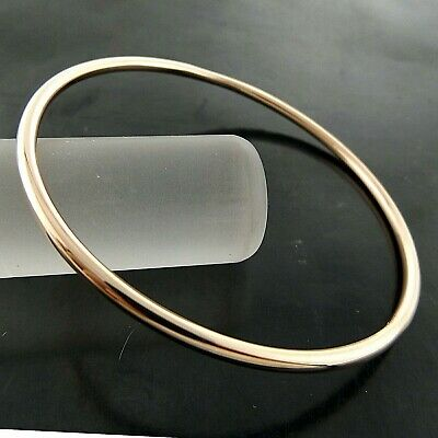 A732 Genuine Real 18K Rose G/f Gold Solid Ladies Golf Cuff Bangle Bracelet