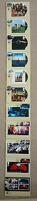 2016 Pink Floyd PHQ Postcards SET OF 11 used First Day Front LONDON W2 postmarks