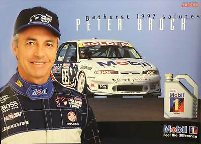 Peter Brock Mobil 1 Poster 1997 Bathurst Holden VS Commodore