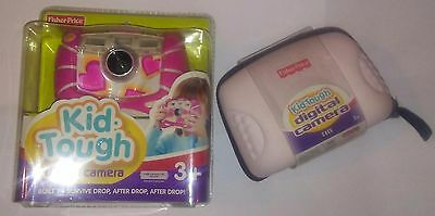 Pink Heart Design Kid-Tough Digital Camera & Pink Digital Camera Case. NIP