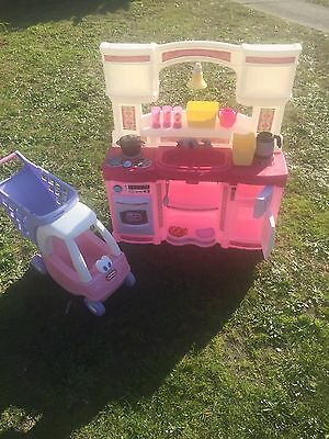 Step 2 Pretend Kitchen + Little Tikes Cozy Coupe Shopping Trolley