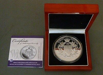 5oz Sterling Silver Proof £10 TDC 2010 Boxed William + Kate Royal Engagement