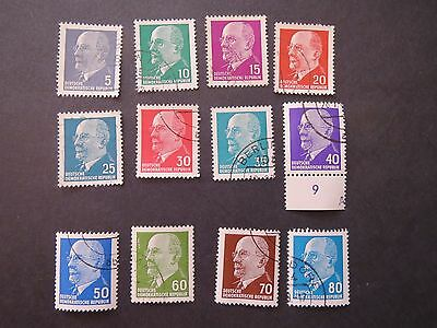 Germany Stamps  (Ddr 1961  Issue)   Part Set 12 Of 14