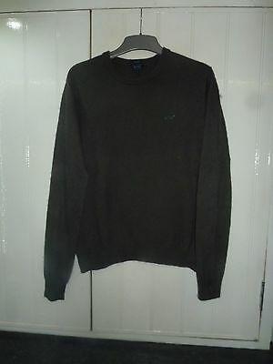 Men's Olive part Wool Jumper by Armani in Size S
