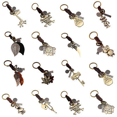 Key Handbag Chain Cute Animal Women Men Leather Chain Keychain Keyrings Cartoon