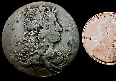 S872: 1681 Charles II IRISH Copper HALFPENNY - Spink 6574 (£60 F, £250 VF)